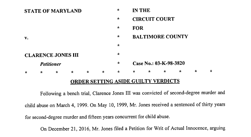 Clarence Jones Free After 18 Years